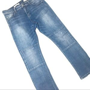 Pilcro and the Letterpress Parallel high rise jean